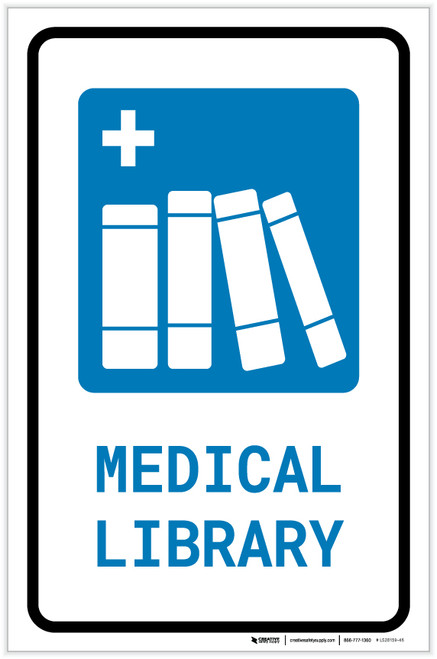 Medical Library with Icon Portrait - Label