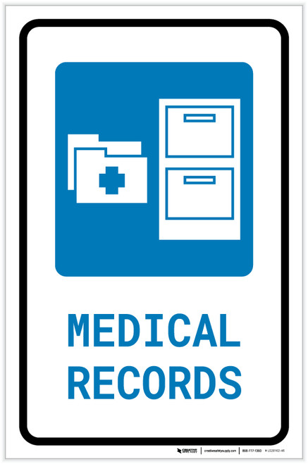 Medical Records with Icon Portrait - Label