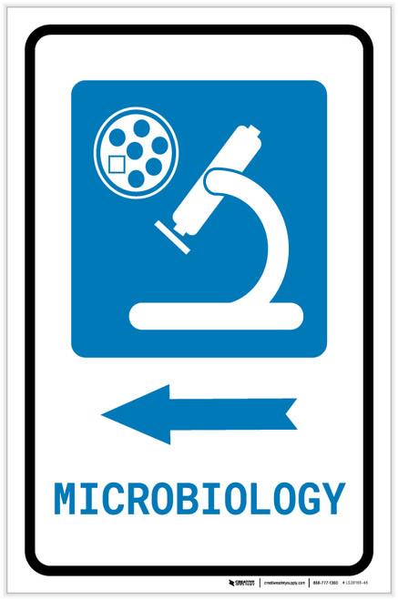 Microbiology Left Arrow with Icon Portrait - Label