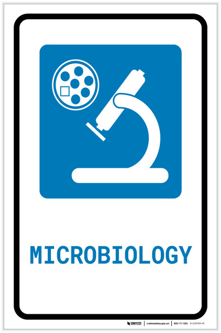 Microbiology with Icon Portrait - Label
