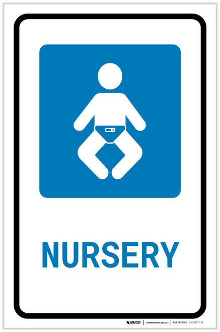 Nursery with Icon Portrait - Label