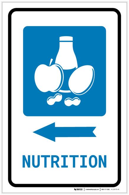 Nutrition Left Arrow with Icon Portrait - Label