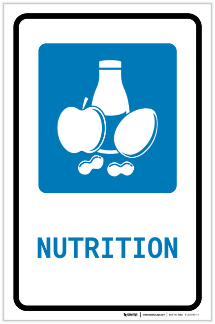 Nutrition with Icon Portrait - Label