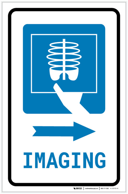 X-Ray Imaging Right Arrow with Icon Portrait - Label