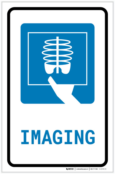X-Ray Imaging with Icon Portrait - Label