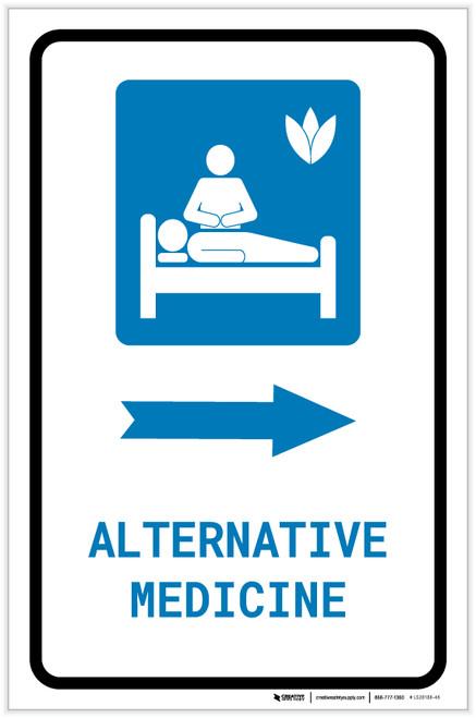 Alternative Medicine Right Arrow with Icon Portrait - Label