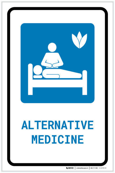 Alternative Medicine with Icon Portrait - Label