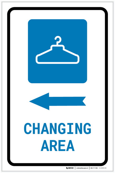 Changing Area Left Arrow with Icon Portrait - Label