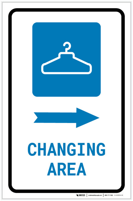 Changing Area Right Arrow with Icon Portrait - Label