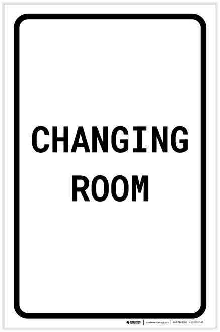 Changing Room Portrait - Label