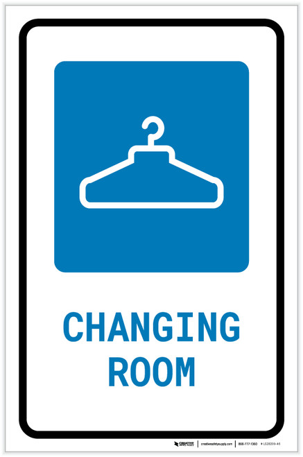 Changing Room with Icon Portrait - Label
