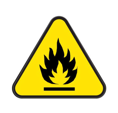 Fire Die Cut Label