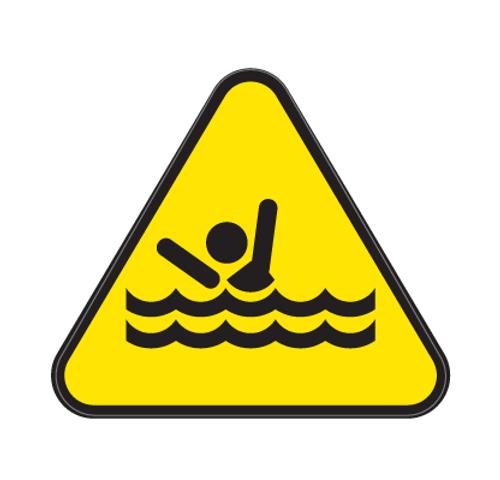 Drowning Die Cut Label