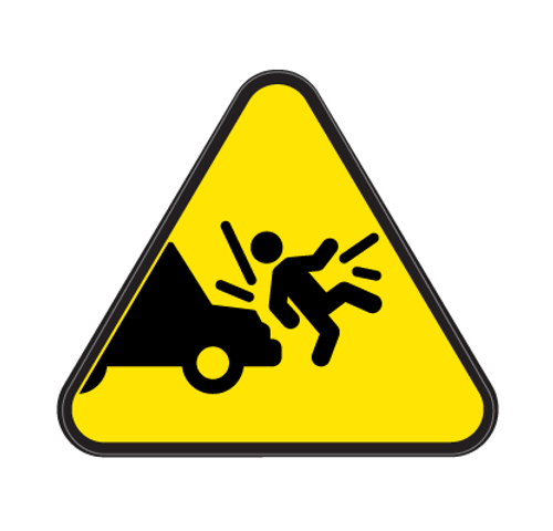Vehicle Impact on Person Die Cut Label