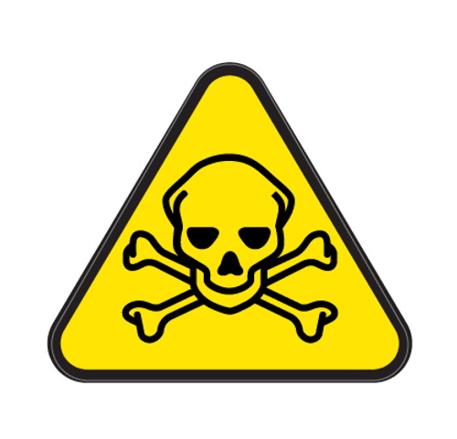 Acute Hazardous Substances Die Cut Label