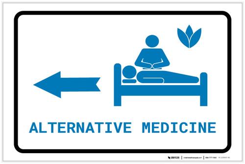 Alternative Medicine Left Arrow with Icon Landscape v2 - Label