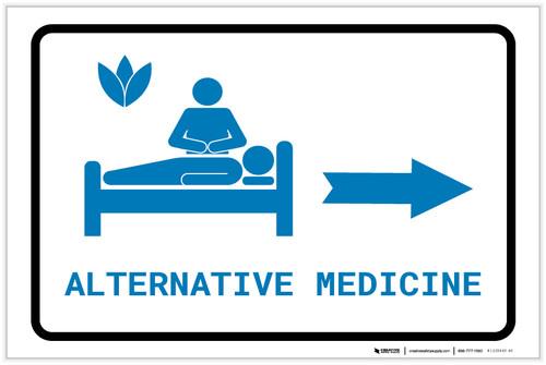 Alternative Medicine Right Arrow with Icon Landscape v2 - Label