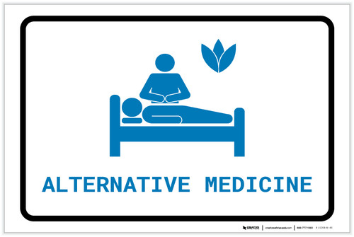 Alternative Medicine with Icon Landscape v2 - Label