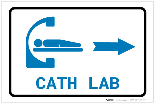 Cath Lab Right Arrow with Icon Landscape v2 - Label