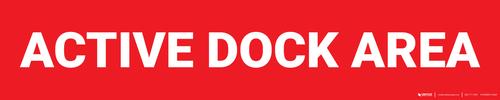 Active Dock Area - Zone Floor Sign