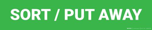Sort / Put Away - Zone Floor Sign