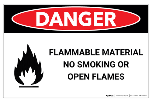 Danger - Flammable Material - Wall Sign