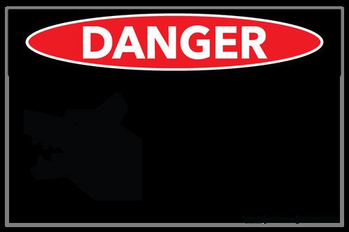 Danger - Beware of Dog - Wall Sign