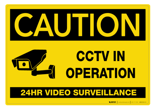 Caution: CCTV in Operation - Wall Sign