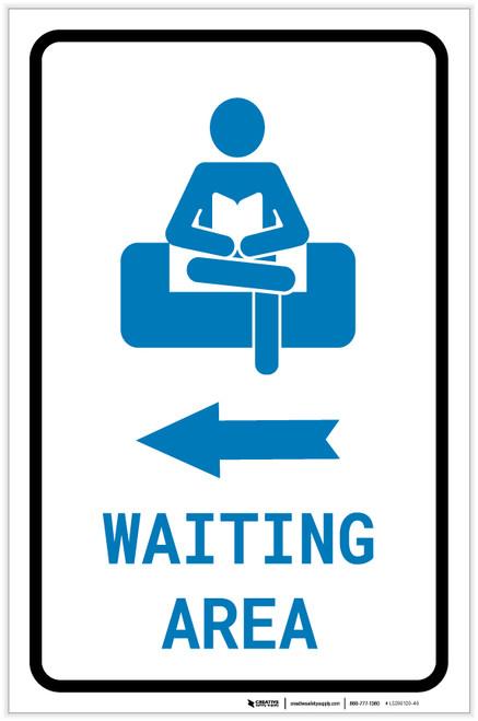 Waiting Area Left Arrow with Icon Portrait - Label