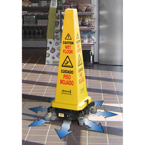"Hurricone™ 36"" Cordless Floor Dryer Safety Caution Lamba Cone"