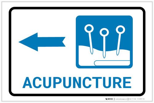 Acupuncture Left Arrow with Icon Landscape - Label
