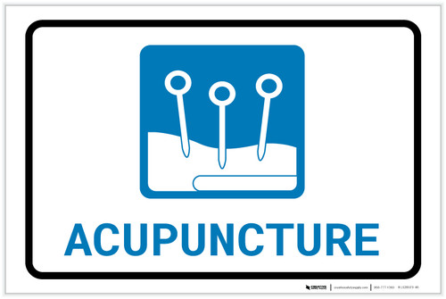 Acupuncture with Icon Landscape - Label