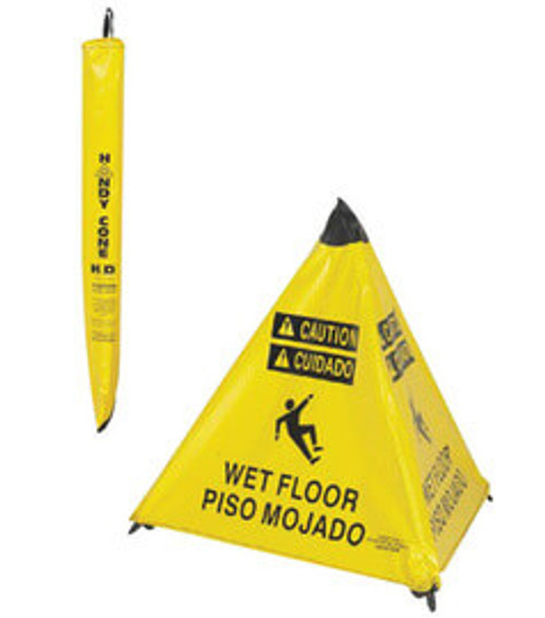 """NMC™ 31"""" X 25"""" Pop-up Safety """"WET FLOOR"""" Caution Cone"""
