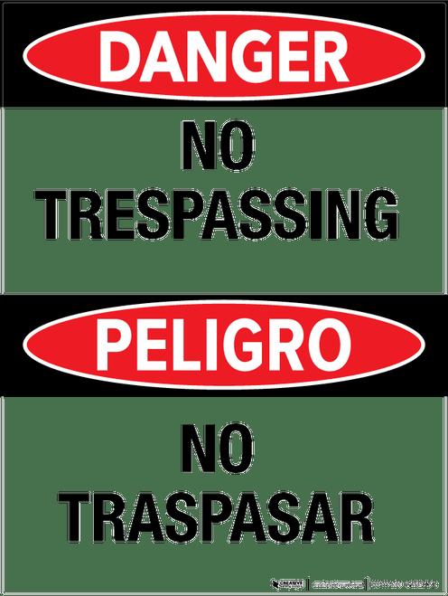 No Trespassing/ No Traspasar - Wall Sign