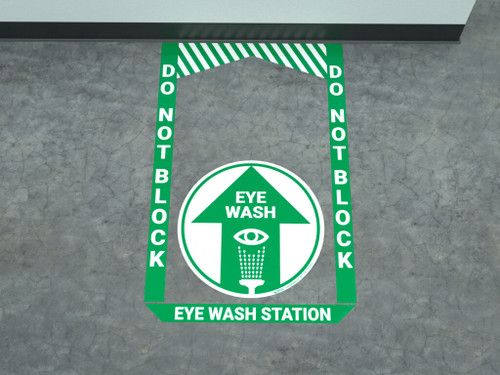 Eye Wash Station - Pre Made Floor Sign Bundle