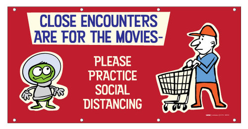 Close Encounters are for the Movies Practice Social Distancing with Emojis - Banner