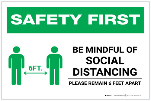 Safety First: Be Mindful of Social Distancing with Icon Landscape - Label