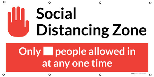 Social Distancing - 2m One Customer At A Time with Icon V2 - Banner