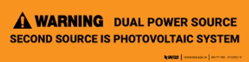 Warning: Dual Power Source Label