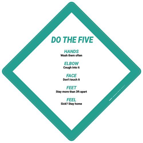 Do The Five: Hands Elbow Face Feet Feel - Placard Sign