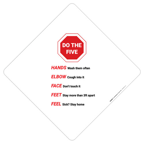 Do The Five Stop Sign Graphic - Placard Sign