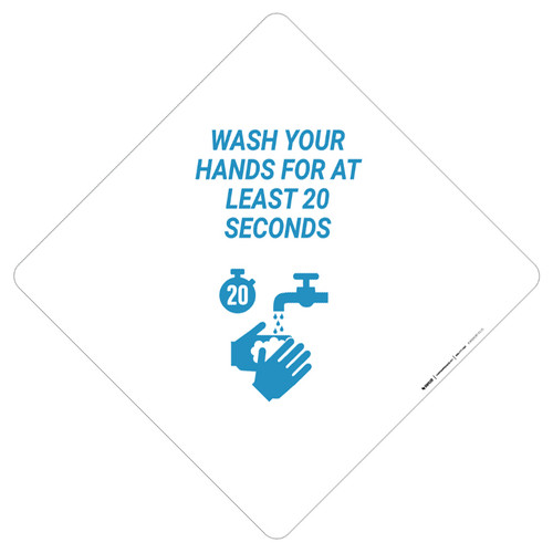 Wash Your Hands For 20 Seconds - Placard Sign