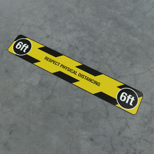 Respect Physical Distancing - 6Ft - Social Distancing Strip