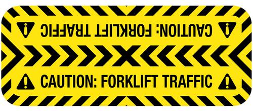 Caution: Forklift Traffic - Door Swing Floor Sign