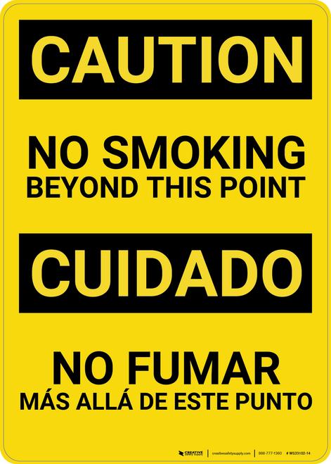 Caution: No Smoking Bilingual (Spanish) - Wall Sign