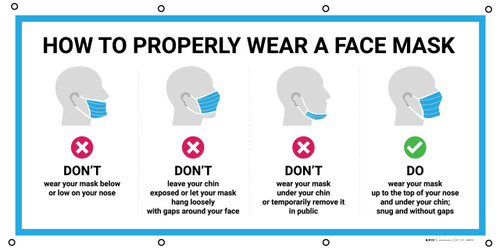 How To Properly Wear A Face Mask with Icons - Banner