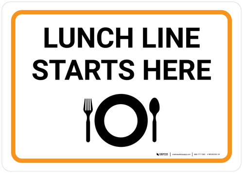 Lunch Line Starts Here with Icon Landscape - Wall Sign