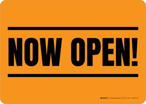 Now Open! Orange/Black Landscape - Wall Sign