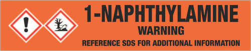 1-Naphthylamine [CAS# 134-32-7] - GHS Pipe Marking Label