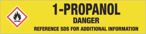 1-Propanol [CAS# 71-23-8] - GHS Pipe Marking Label
